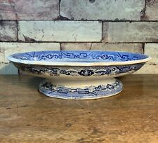 Blue & White Willow Pattern Comport, Cake Stand or Cheese Dish