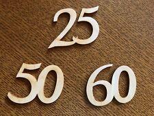 Zahlen groß aus Holz gelasert