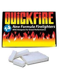 14  Fire Lighters BBQ Log Burners Stove Quick Formula Hotspots Hot Spot UK