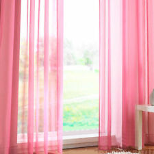 1-2 Panels Pair Of Rainbow Voile Slot Top Panels Top Quality Net Voile Curtains