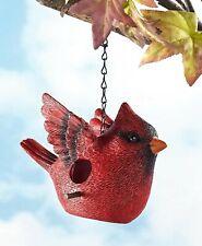 Bird-Shaped Hanging Birdhouse Garden Porch Patio Tree Outdoor Decor - Cardinal