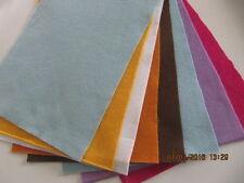 8x Bastelfilz, Platten,  ca. 20 x30 cm Set Nr.9, Farbe sort.