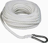 """Boat Rope Towing Line 3/8"""" x 100' Hollow Braid Anchor Dock Tie down Marine Hook"""