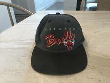 Vintage Chicago Bulls Sports Script Snapback Hat Cap NBA Rare