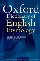 Oxford Dictionary of English Etymology, Hardcover by Onions, Brand New, Free ...