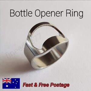 Stainless Steel Finger Ring Beer Bottle Opener Bar Tool Bucks Party Gift