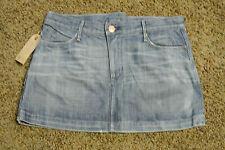 EARNEST SEWN FADER Mini Denim Skirt 29 NWT$172 Amazing Details Shading Creasing
