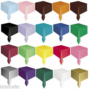 Plastic Table Cover Cloth Wipe Clean For Crafts Wedding Birthday Party Rectangle