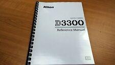 NIKON DIGITAL SLR D3300 CAMERA PRINTED INSTRUCTION MANUAL USER GUIDE 392 PAGES