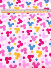 10 YARDS Multi Colors Pink Blue Yellow Mickey Mouse Polka Dot Cotton Fabric Kids