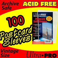 100 STANDARD ULTRA-PRO POSTCARD SLEEVES 3.68 X 5.75 ACID FREE 81225-1