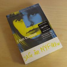 I Am Curious Yellow Blue Criterion 2-Disc DVD Set Spine #179 Vilgot Sjoman NEW