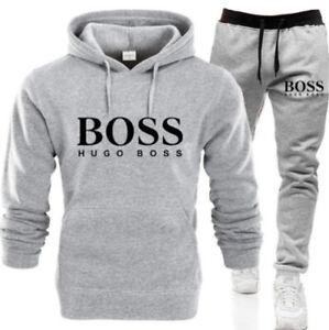 Hugo Boss1 Herren Sets Hoodie Hose Casual Trainingsanzug Sportswear Gym Sweat DE