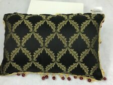 Waterford 18X12 Decorative Bed Throw Pillow Black And Gold
