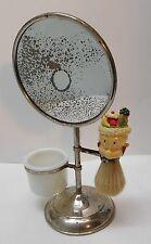 Shaving Mirror with Elmer Fudd Fruit Salad on Head Brush Acme Glass Cup Vintage