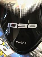 07-10 Ducati 1098/848 CLEAR Puig Racing Windshield Windscreen w/1098 LOGO 4533W