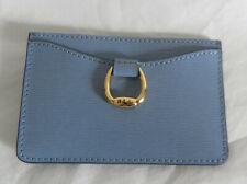 a71a6fecb8 NWT Lauren Ralph Lauren Bennington Mini Leather Card Case Blue