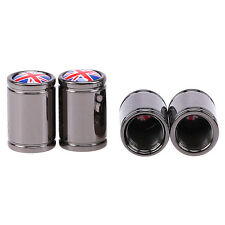 4 x New British Flag Car Auto Tire Wheel Rims Stem Air Valve Cap Tyre Mesh Cover