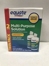 Equate Multi-Purpose Contact Lenses Solution 2 Pack x 12 fl oz - Exp 10/2021