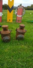 Pair Of Vintage Railway Lanterns