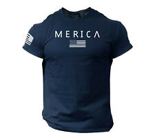 Merica Army StyleT Shirt Us Flag American Military Gun Top