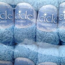 JAMES C BRETT BLUE ICICLE CHUNKY KNITTING MICROFIBRE & METALLIC YARN 200G IC5
