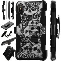 Lux-Guard For iPhone 6/7/8 PLUS/X/XR/XS Max Phone Case Cover SKULL ROSE