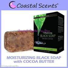 NEW Coastal Scents African Natural BLACK BAR SOAP w/COCOA BUTTER - FREE SHIPPING