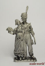 Tin soldier.Officer of the Life Guards Cossack Regiment with the companion 54 mm