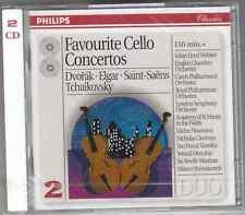 FAVOURITE CELLO CONCERTOS - DVORAK ELGAR SAINT SAENS TCHAIKOVSKY - 2 CD