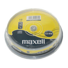 MAXELL 10 PACK OF 4X SPEED 80 MINUTE CD-RW DISCS 700MB - 624039