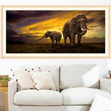 5D Diamond Painting Elephant Dawn Embroidery Cross Stitch DIY Craft Home Decor