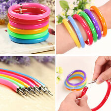 Cool 10 Pcs Novelty Ballpoint Pens Wristband Bangle Bracelet Colorful Hot New