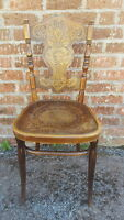 A Beautiful Antique Rare Bentwood Shield Back Ornate Feature Chair 1920's/30's