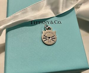 Return to Tiffany cat charm discontinued authentic Silver