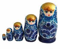 POUPEES RUSSES BABUSHKA MATRIOCHKA PEINTE A LA MAIN PAR OSETROVA RUSSIE