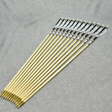 """12x selected Pine wooden arrows with 5""""Turkey feathers for Archery Hunting"""