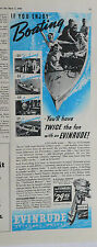 1940 magazine ad for Evinrude outboard engines - You'll have twice the fun