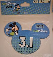 NEW 2018 Run Disney Marathon 3.1 Miles Mickey Magnet
