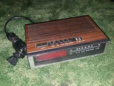 Lloyds J202B AM/FM Digital Alarm Clock Radio Wood Grain 783A