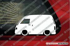 2X Lowered JDM car outline stickers - for Daihatsu Hijet (s80, S82 ) panel van