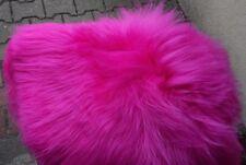 Real Premium Iceland Sheepskin Sheepskin Lambswool fur Top Tanned Fuchsia Pink