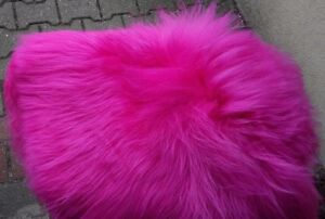 Real Premium Iceland Sheepskin Lambskin Fur Top Tanned Fuchsia Pink