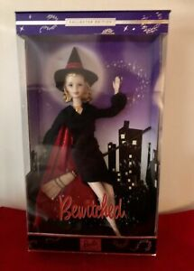 """NIB 2001 BARBIE AS SAMANTHA FROM BEWITCHED 12"""" DOLL COLLECTIBLES HALLOWEEN WITCH"""