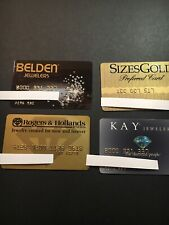 4 Expired Credit Cards For Collectors - Jewelry Theme Lot 3
