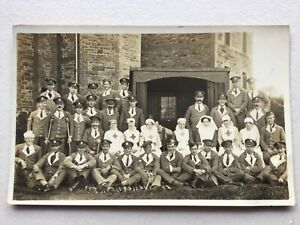 WW1 Red Cross nurses & soldiers (probably V.A.D. military hospital Bedford) RP