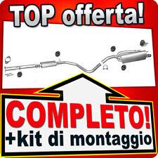 Scarico Completo FIAT BRAVO II (198) 1.4 T-JET con Tubo CROMO Marmitta B48