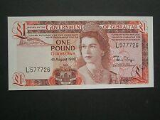 *** Fantastic Gibraltar Crisp**  £1  'UNC   1988   Banknote*****