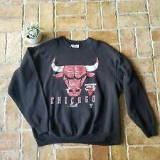 Vintage Chicago Bulls Logo Athletic Crewneck Sweatshirt XL Black Red Jordan