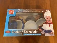 New Step 2 Cooking Essentials Play Kitchen Set Enamel Pots & Pans 100% Complete